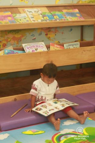 The library of the Phare Ponleu Selpak circus school in Battambang, Cambodia