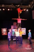 Acrobats performing a human pyramid at Phare the Cambodian Circus, Siem Reap, Cambodia