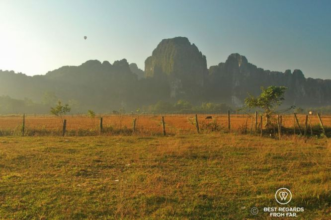 Sunrise in Vang Vieng, Laos