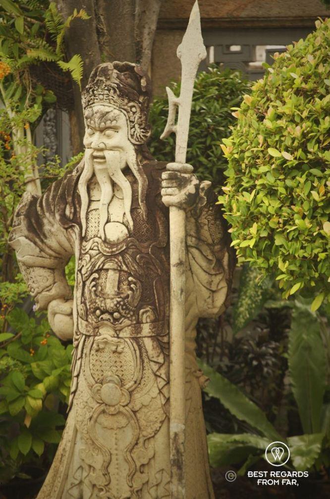 A Chinese statue at the Grand Palace, Bangkok, Thailand