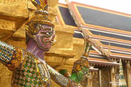 Close-up of a monkey demon at the Grand Palace, Bangkok, Thailand