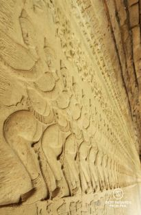 Details of the Churning of the Sea of Milk bas relief, Angkor Wat, Cambodia