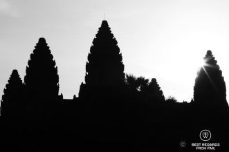 The five towers of Angkor Wat symbolizing Mount Meru, Cambodia