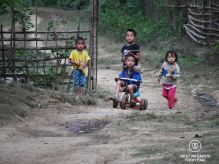Children playing, Ban Hoy Seen, Laos