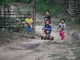 Children playing, Ban Hoy Seen, Laos
