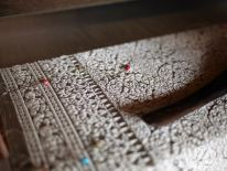 The 3D weaving on the loom, Siem Reap, Cambodia