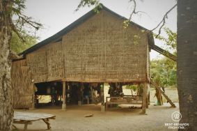 A traditional house in a village of Angkor, Cambodia