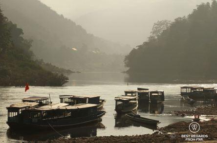 The boat landing on the Nam Ou River, Muang Khua, Laos