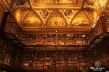 The splendid East Room of the Morgan Library, New York City