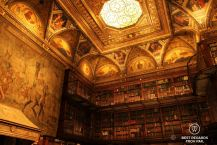 The splendid East Room of the Morgan Library, New York City