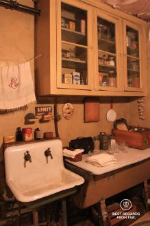Kitchen with running water & bathtub of the Baldizzi's, the Tenement Museum, New York City