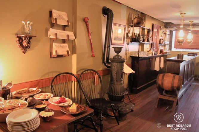 The beer saloon of the Schneider's at the Tenement Museum, New York City