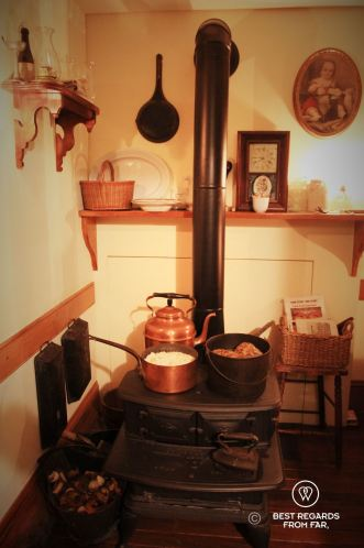 The kitchen of the Schneider's at the Tenement Museum, New York City