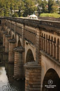 The canal bridge over the Orb River, Canal du Midi, Béziers