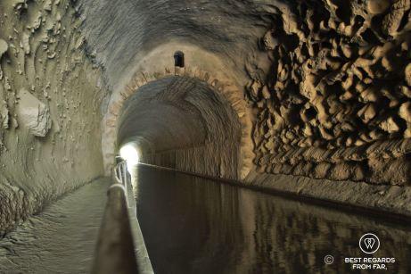 The tunnel of Malpas, Canal du Midi, France