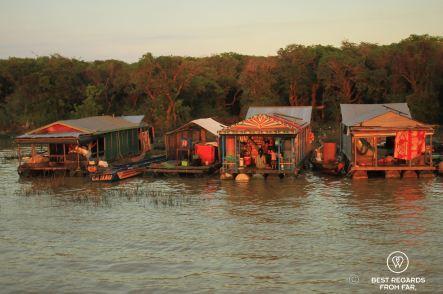Chong Kneas floating village, Tonlé Sap, Cambodia