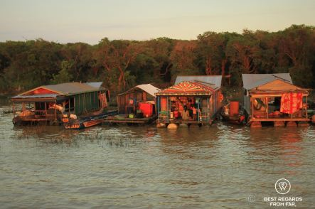 Chong Kneas floating village, Tonlé Sap, Cambodia
