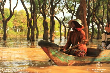 Exploring the flooded forest, Tonlé Sap, Cambodia