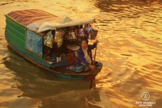 Floating store, Chong Kneas floating village, Tonlé Sap, Cambodia
