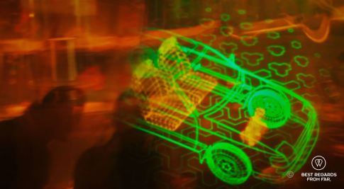 A 3D hologram movie of a car evolving in front of our eyes, Holographic Studios, NYC