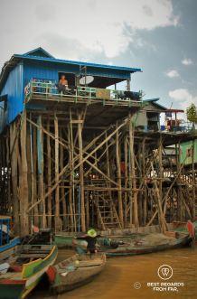 Kampong Phluk foating village, Tonlé Sap, Cambodia