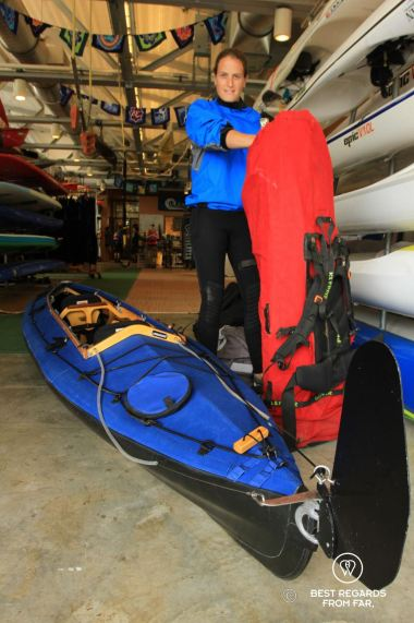 Eckhart's Long Haul, the perfect kayak to reach the Statue of Liberty, New York City