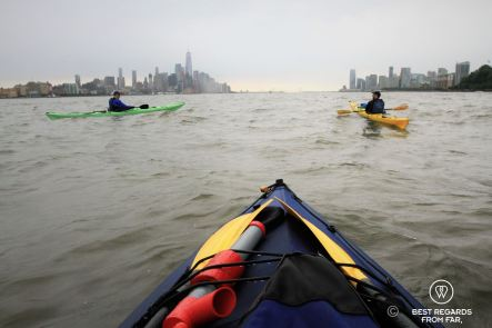Kayaking to the Statue of Liberty, New York City