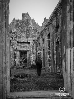 Roaming the temple grounds alone, Preah Vihear, Cambodia