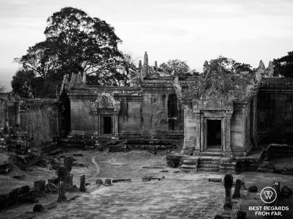 Desolated temple grounds of Preah Vihear, Cambodia