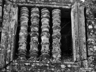 Ancient window, Preah Vihear, Cambodia
