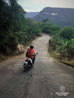 The steep road to Preah Vihear, Cambodia