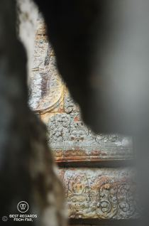 Detail through ancient stones, Preah Vihear, Cambodia
