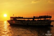 Queen Tara for a sunset dinner on the Tonlé Sap Lake, Cambodia