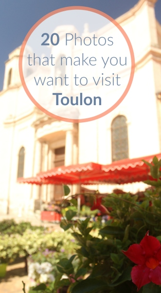 Pin referring to a photo gallery of Toulon and the French Riviera.