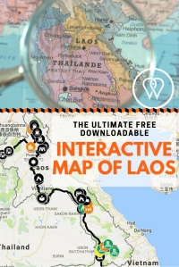 Pin interactive map of Laos