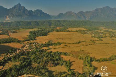The surroundings of Vang Vieng, Laos