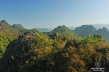 The karst formations around Vang Vieng, Laos