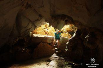 Exploring the caves of Vang Vieng, Laos