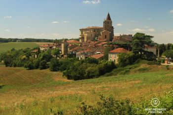 The village of Lavardens and its castle, Gascony, France