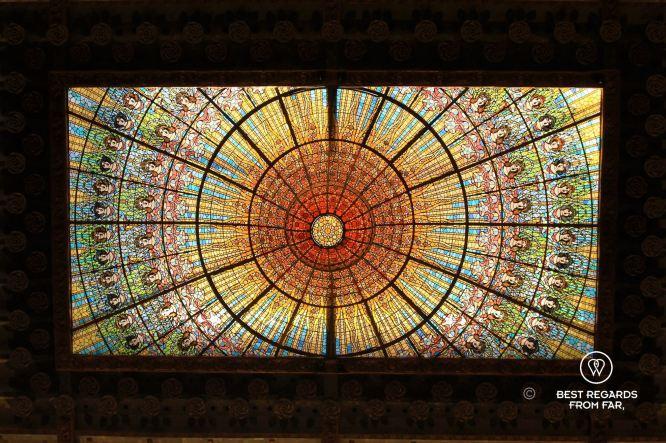 The skylight, Palau de la Musica Catalana, Barcelona