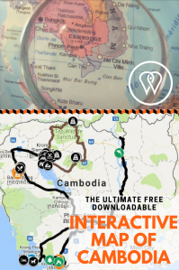 Pin interactive map of Cambodia