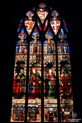 The stunning stained-glass windows of the Saint Mary cathedral, Auch, France