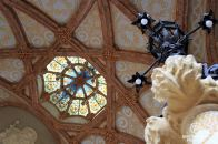 The rich decoration of the Sant Pau hospital, Barcelona