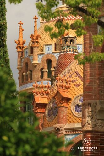 A pavilion with its water tower, the Sant Pau hospital, Barcelona