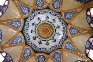 Some of the ceiling ceramics of the Sant Pau hospital, Barcelona