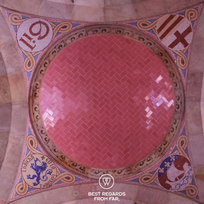 The symbolic ceiling ceramics of the Sant Pau hospital: Pau Gil, Paris, Catalonia, Barcelona