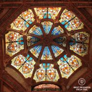 Glass dome at the Sant Pau hospital, Barcelona