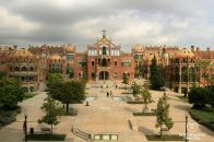 Some of the pavilions of the Sant Pau hospital, Barcelona