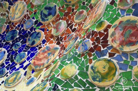 Details of trencadís at Casa Batlló, Barcelona