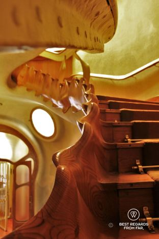 The main staircase of Casa Batlló, Barcelona